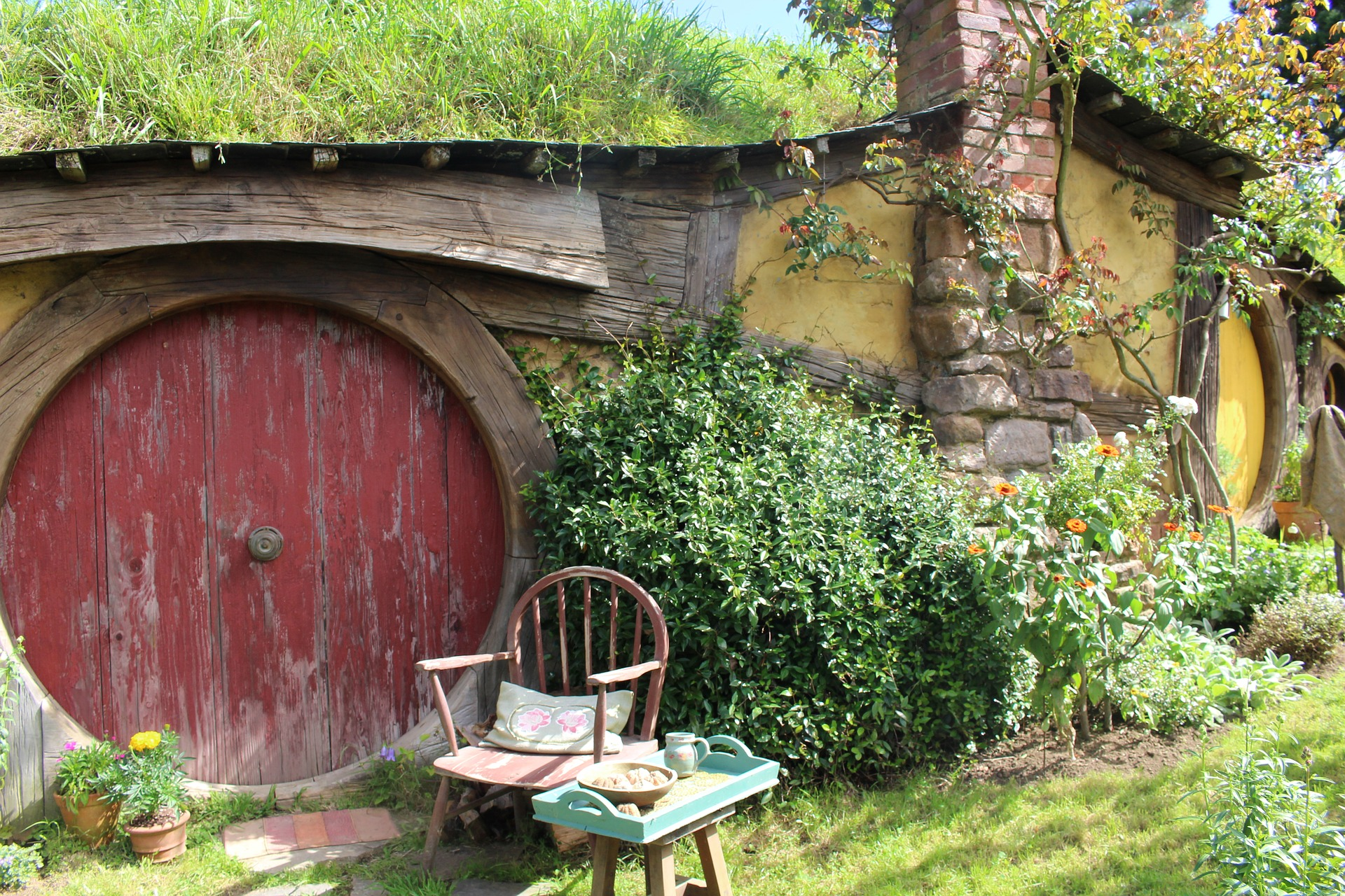A Hobbit hole providing Man Cave Ideas for a Small Room UK